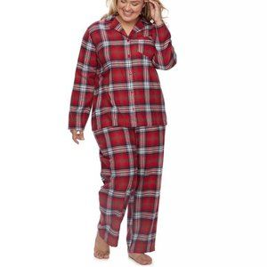 Jammies For Your Families Plaid Flannel Pajama XXL